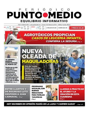 4f87624d638e8 Edición impresa jueves 15 de febrero de 2018 by Punto Medio - issuu