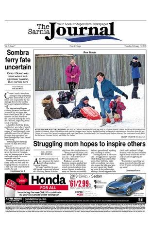 Sarnia Journal Feb 15 2018 By The Sarnia Journal Issuu