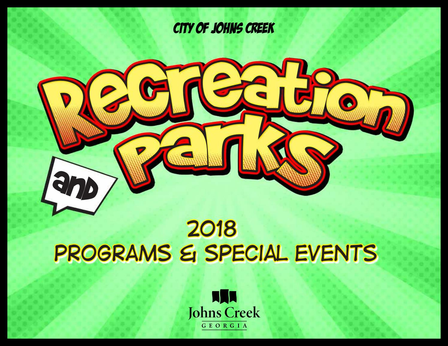 2018 Recreation and Parks Booklet by City Johns Creek - issuu