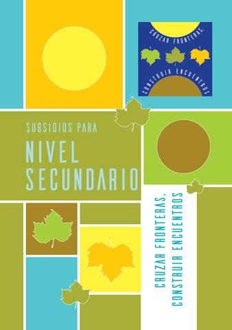 Cruzar Fronteras, construir encuentros: Subsidio Nivel Secundario by ...