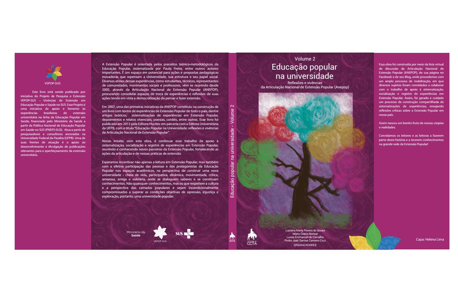 Educação popular na universidade, vol. 2 by vepopsus - issuu 302198bb5a