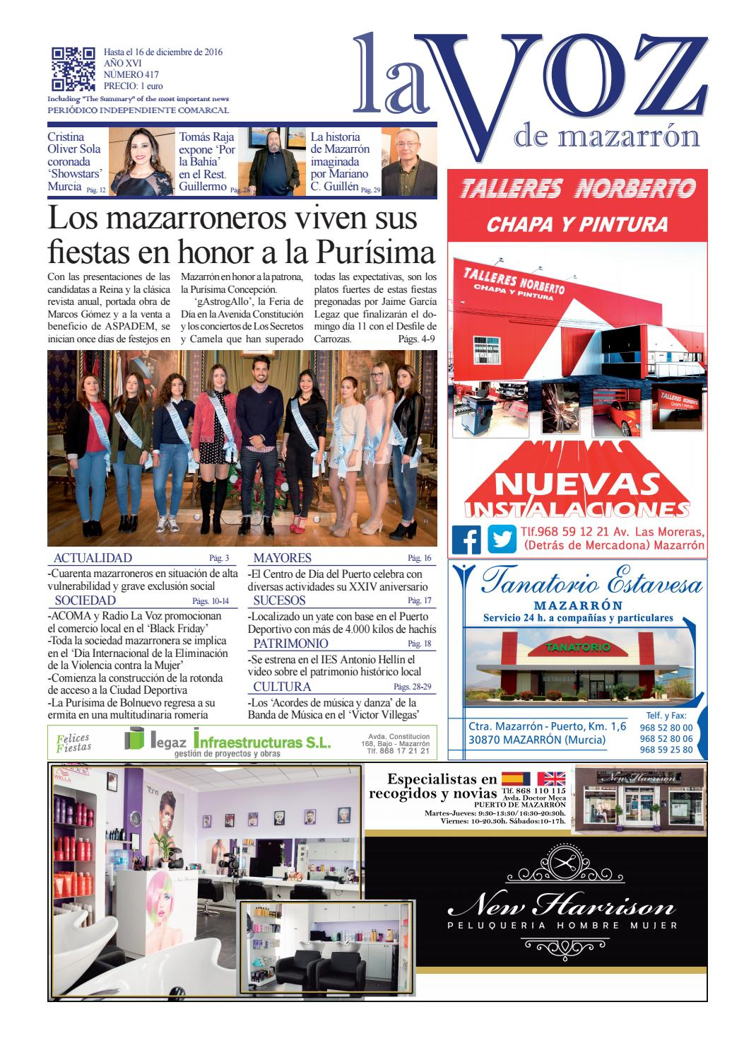 Voz417 by La Voz de Mazarrón (Periódico) - issuu