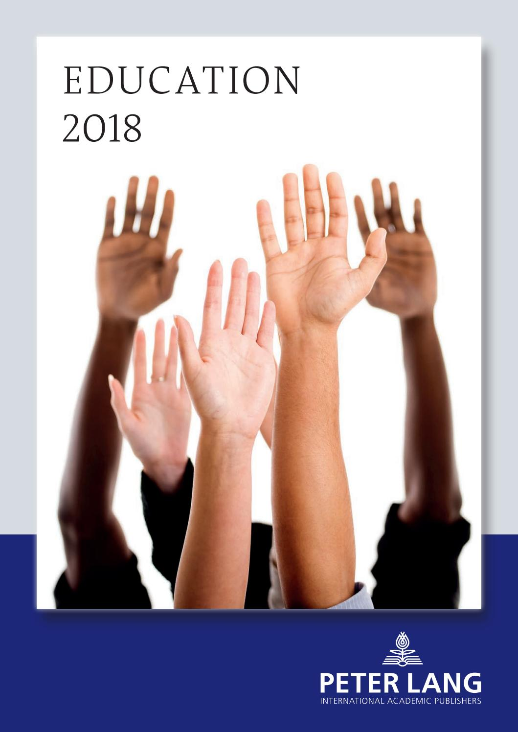 Education 2018 by Peter Lang Publishing Group - issuu