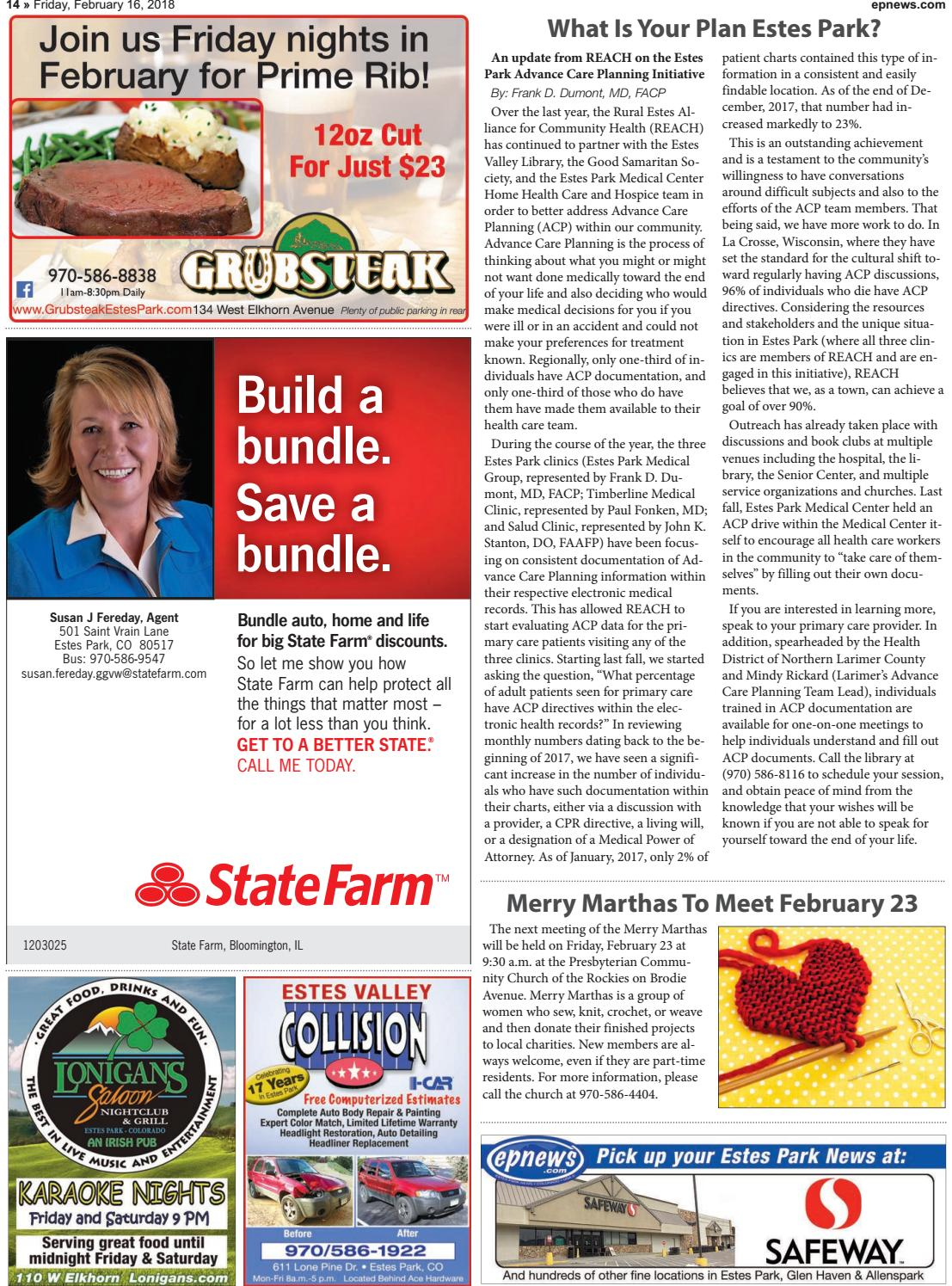 Estes Park News, February 16, 2018 by Estes Park News, Inc