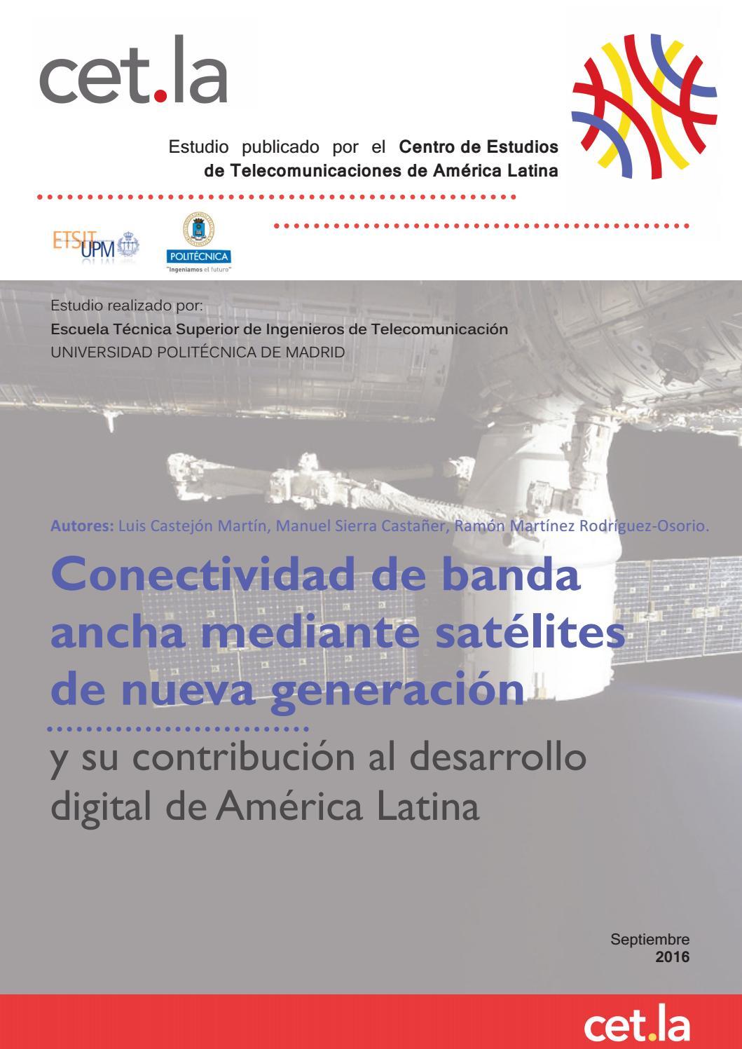 Estudio sobre la conectividad de banda ancha mediante satélites de ...