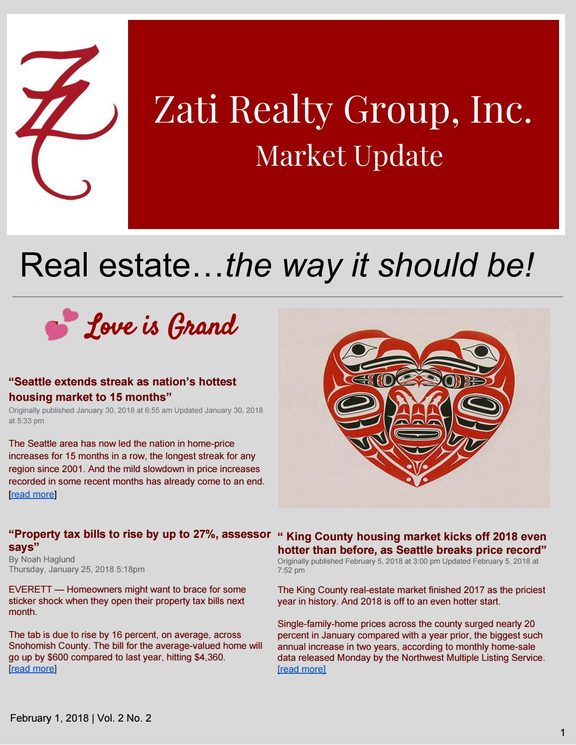 February Newsletter by Zati Realty Group, Inc  - issuu