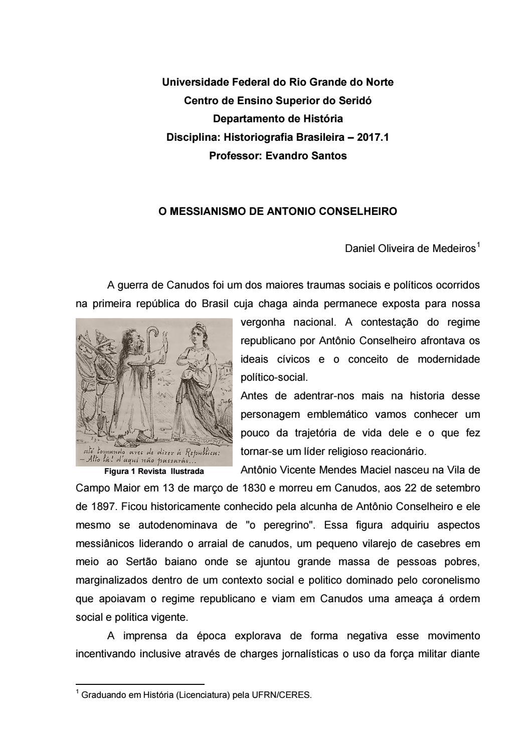 Ensaio O Messianismo De Antonio Conselheiro By Irdanielmedeiros