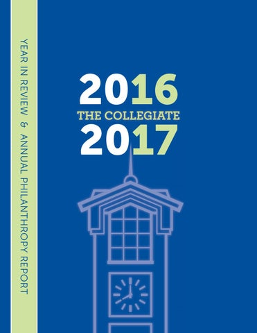 dbf2e7577fe The Collegiate  2016-17 Year in Review   Philanthropy Report by ...