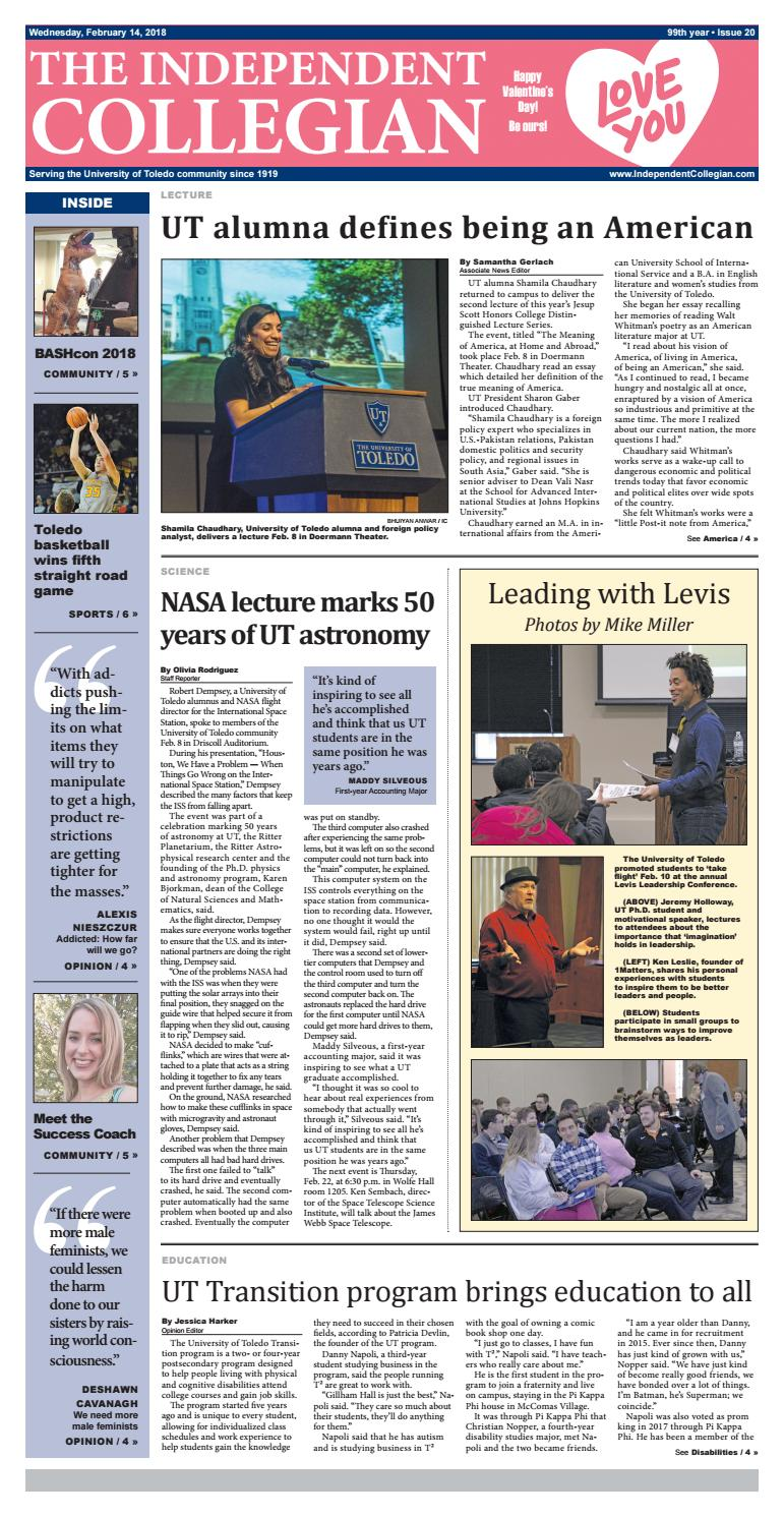 Full Issue (2-14-18) by The Independent Collegian - issuu