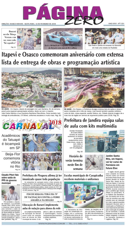 Página Zero Edição nº 1331 (16 02 2018) by Para acessar o seu Página Zero -  issuu 094846acc5eb4