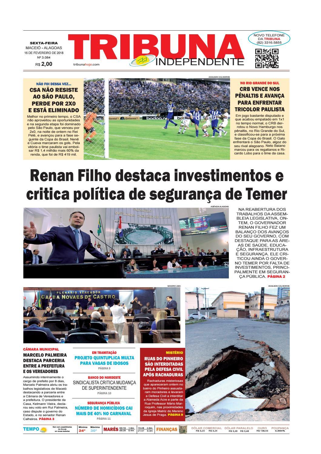 83bbb2e8643 Edição número 3084 - 16 de fevereiro de 2018 by Tribuna Hoje - issuu