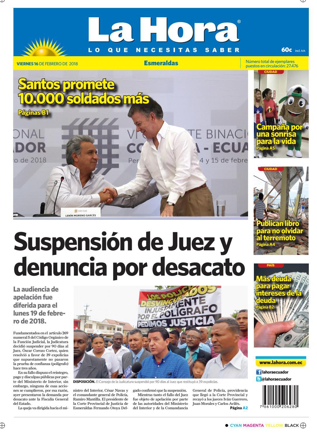 bb6cdab0bc Esmeraldas 16 de febrero de 2018 by Diario La Hora Ecuador - issuu