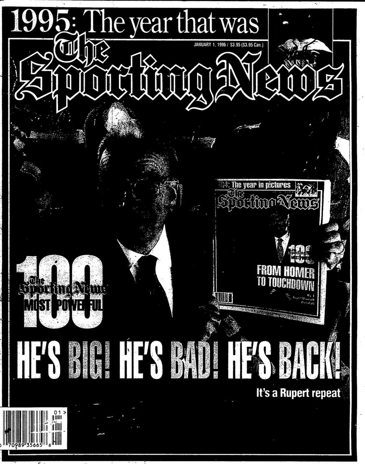 cheap for discount f62d5 08285 The sporting news 01 01 1996 by Mexico Sports Collectibles - issuu