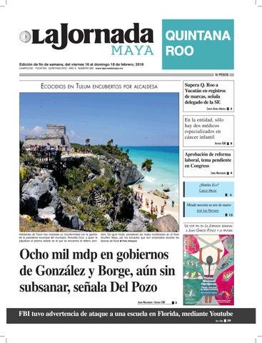3111bfc136085 La jornada maya jueves 16 de febrero de 2018 by La Jornada Maya - issuu