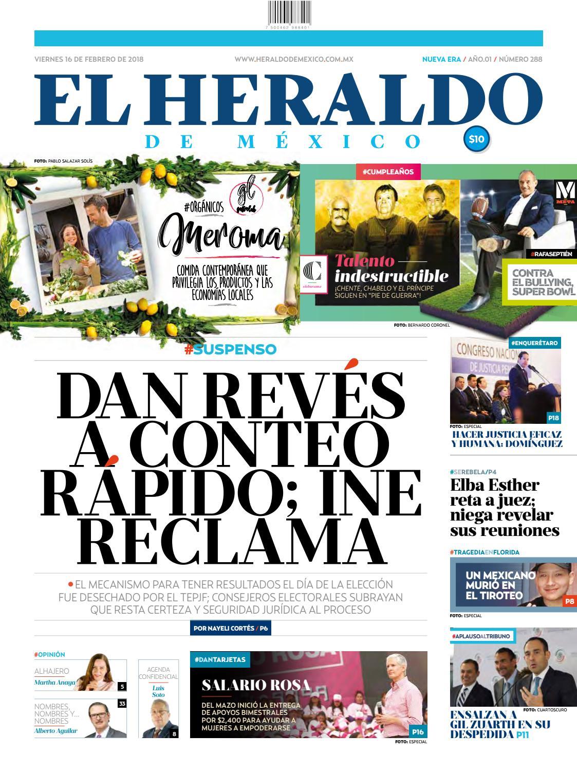 El Heraldo de México 16 de febrero de 2018 by El Heraldo de México - issuu