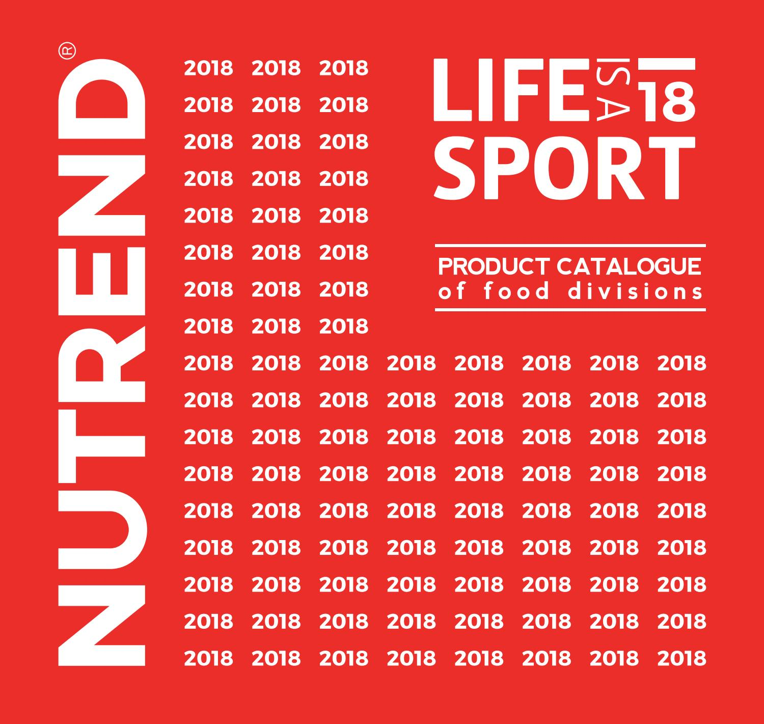 ebe36dbe16b Nutrend product catalogue food division 2018 by NUTREND D.S.