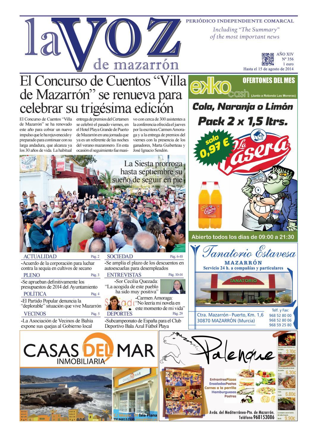 Voz356 by La Voz de Mazarrón (Periódico) - issuu