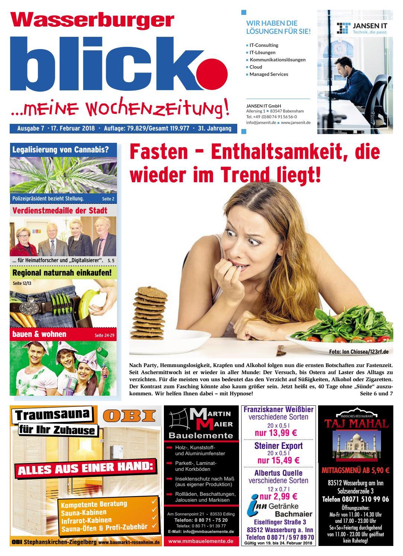 Wasserburger blick - Ausgabe 07 | 2018 by Blickpunkt Verlag - issuu