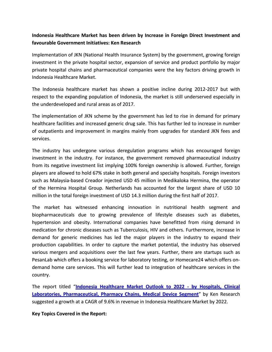 Tuberculosis Prevalence Indonesia, Pharmaceutical Market Indonesia