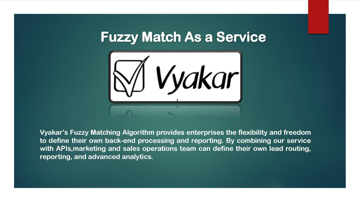 Fuzzy Match Algorithm by Robert Song - issuu