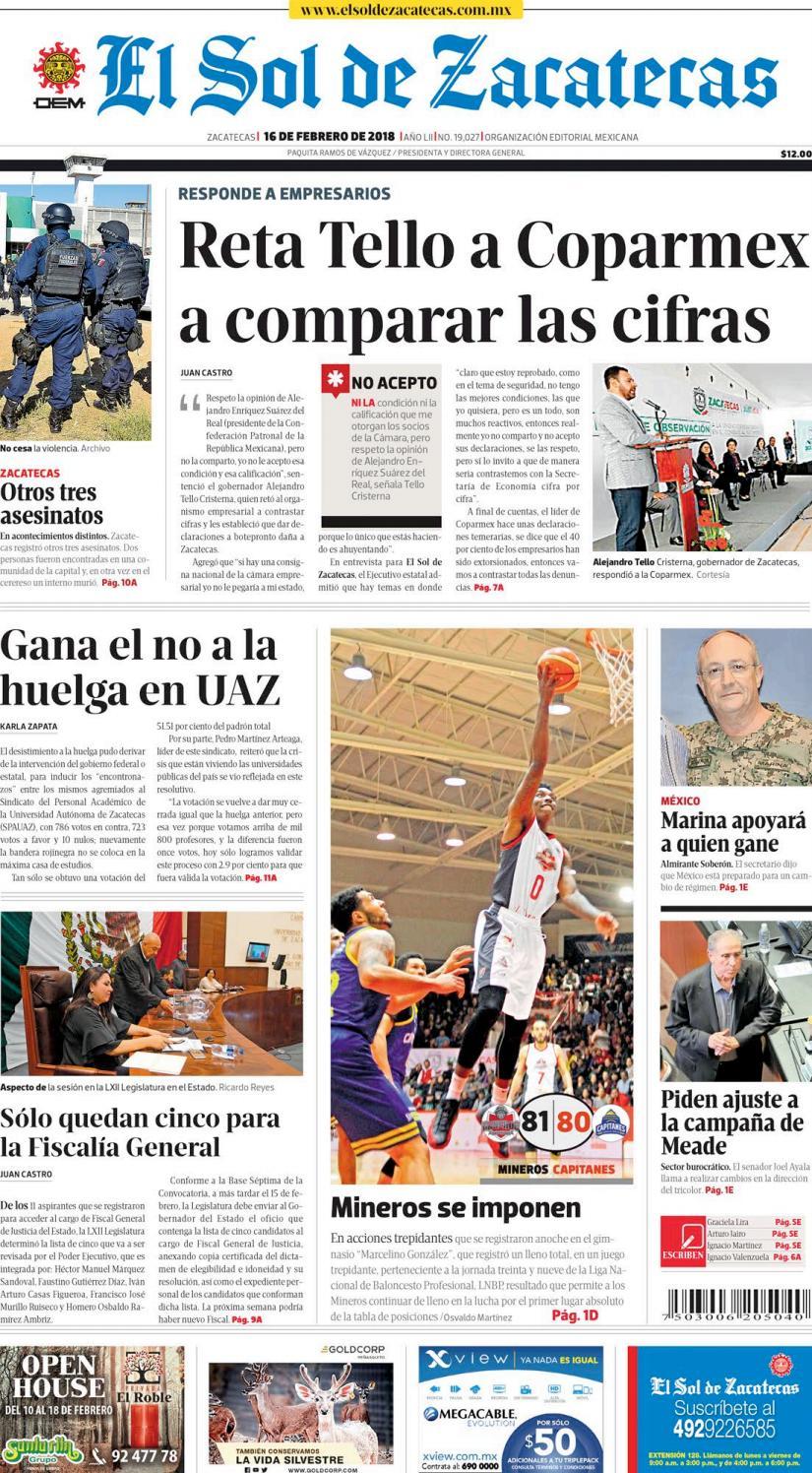 065c27290682b El Sol de Zacatecas 16 de febrero 2018 by El Sol de Zacatecas - issuu