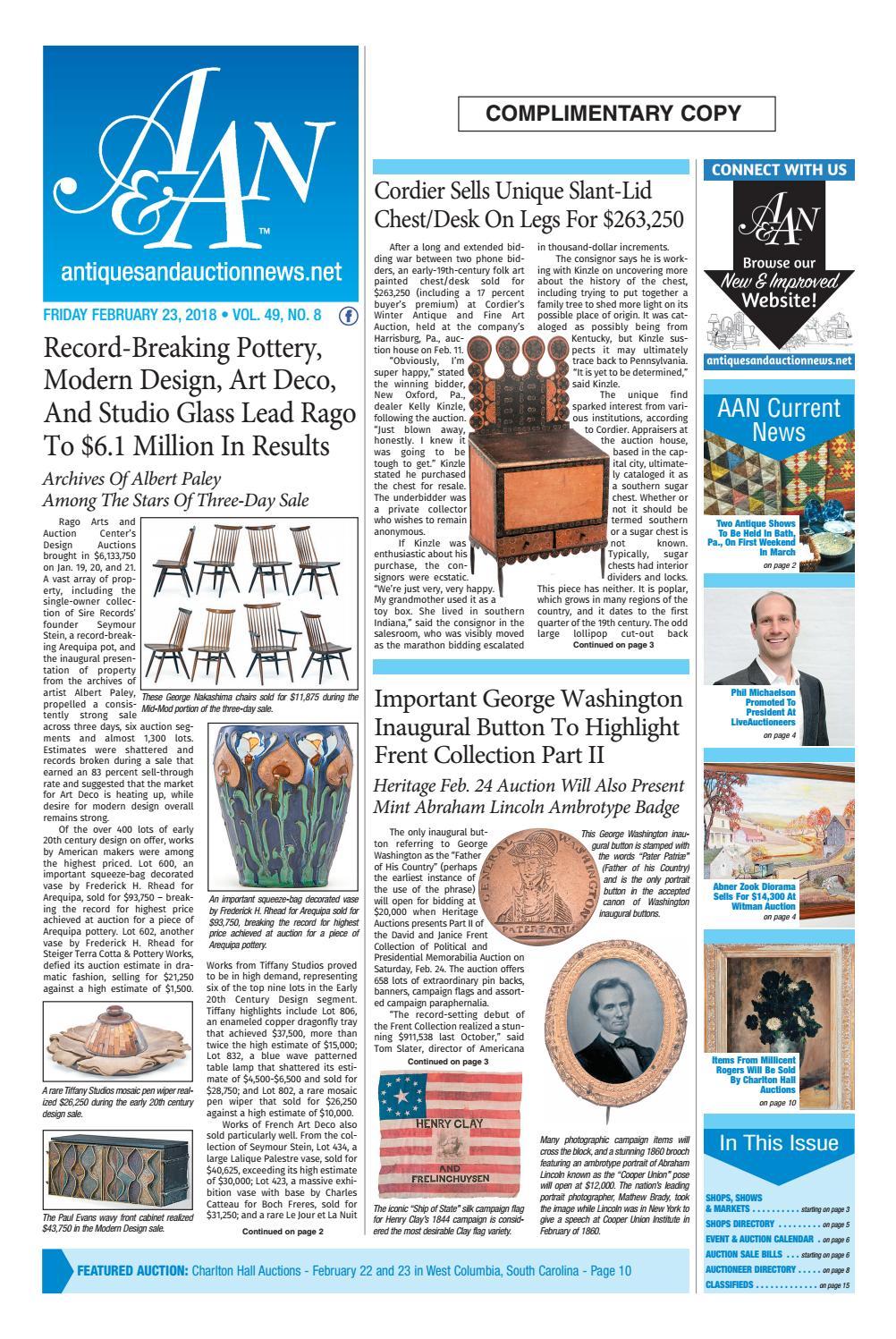 Antiques & Auction News 022318 by Antiques & Auction News