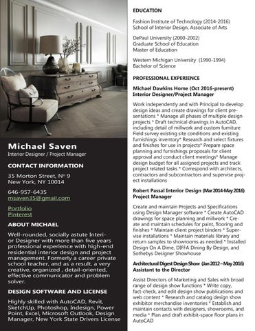 Resume Michael Saven By Michael Saven Issuu