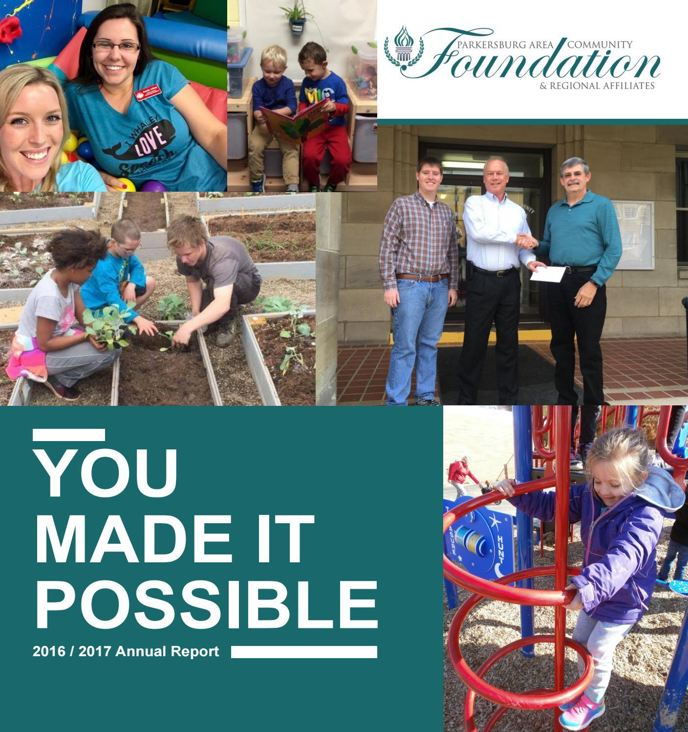 PACF Annual Report 2017 By Parkersburg Area Community Foundation U0026 Regional  Affiliates (PACF)   Issuu