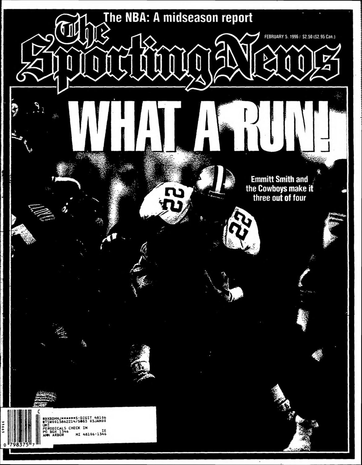 The sporting news 02 05 1996 by Mexico Sports Collectibles