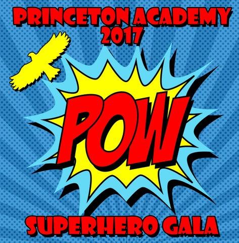 Superhero Gala Program by Princeton Academy of the Sacred Heart - issuu