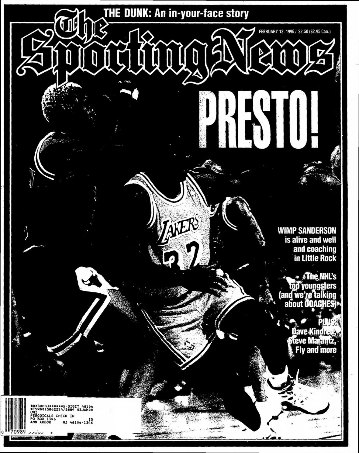The sporting news 02 12 1996 by Mexico Sports Collectibles