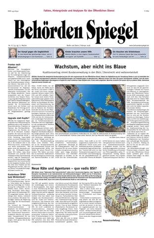 Behörden Spiegel Februar 2018 by propress - issuu