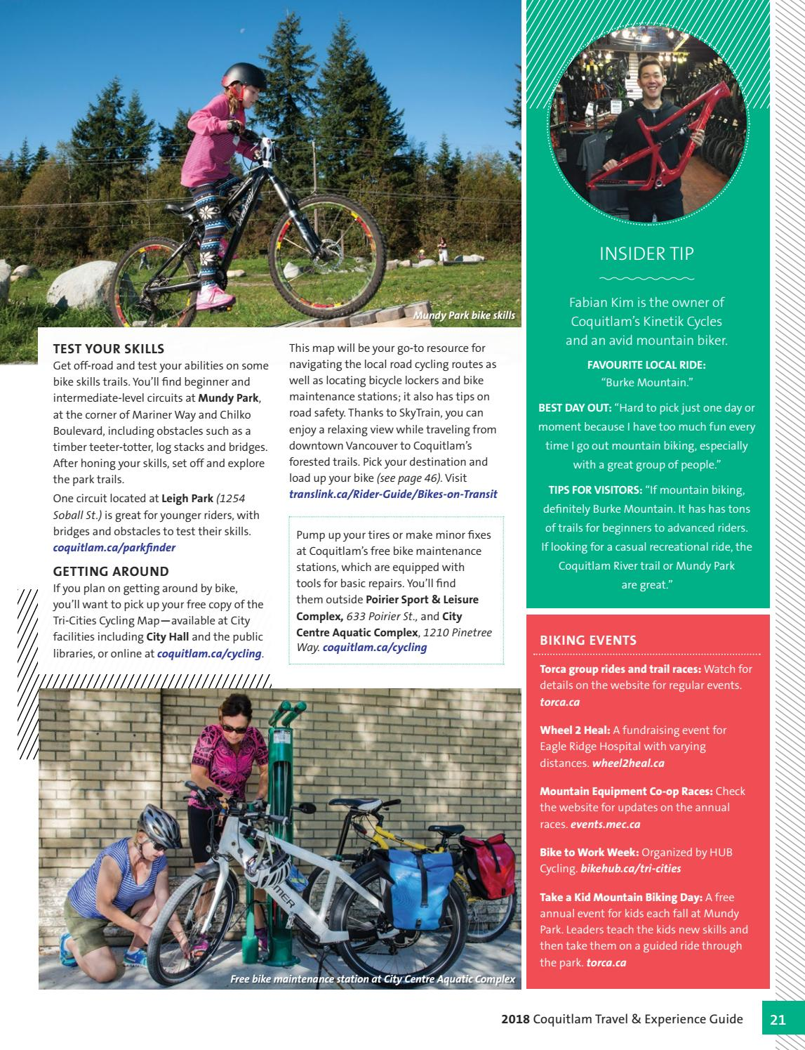 2018 Coquitlam Travel and Experience Guide by City of
