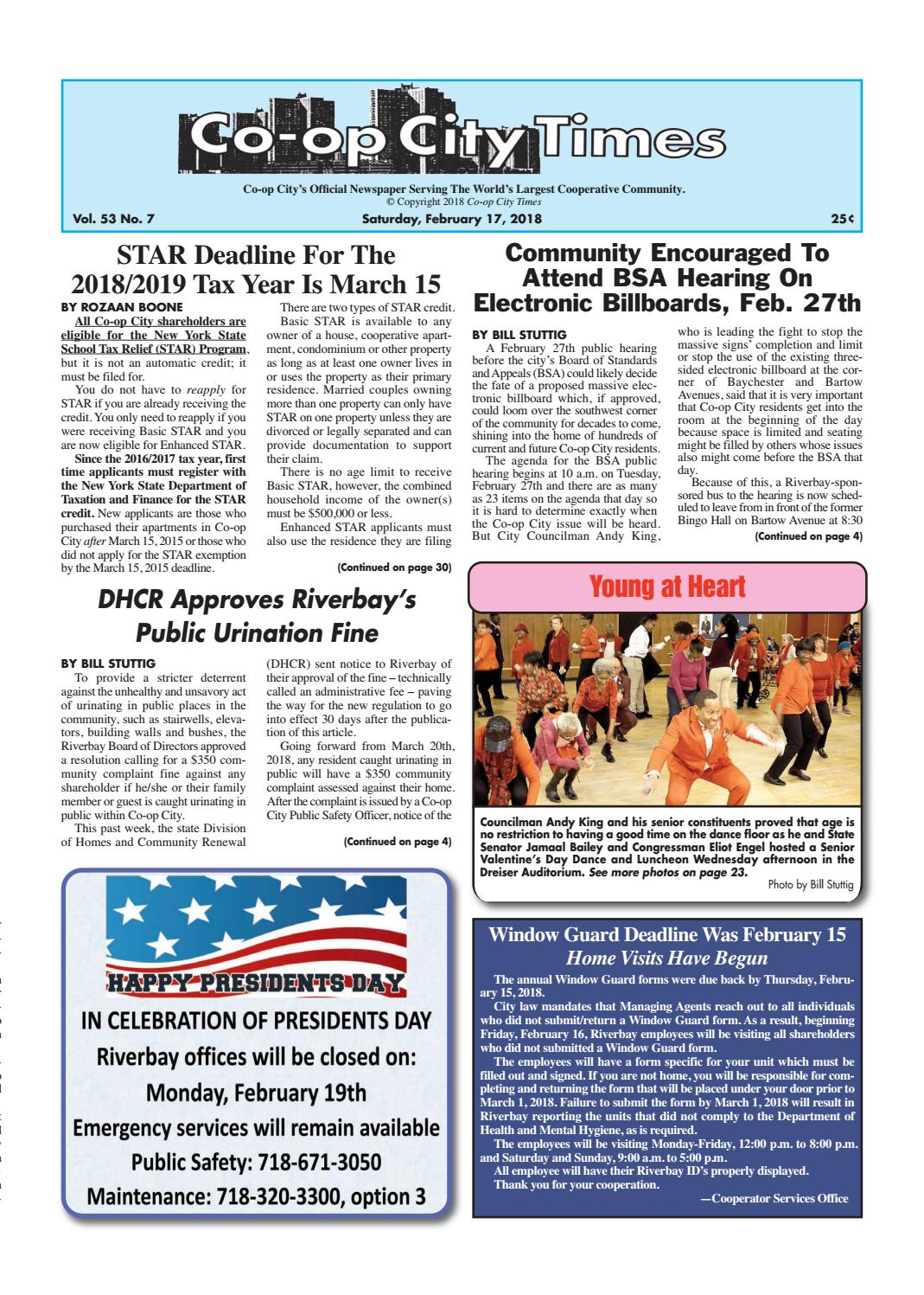 Co-op City Times 02/17/18 by Co-op City Times - issuu
