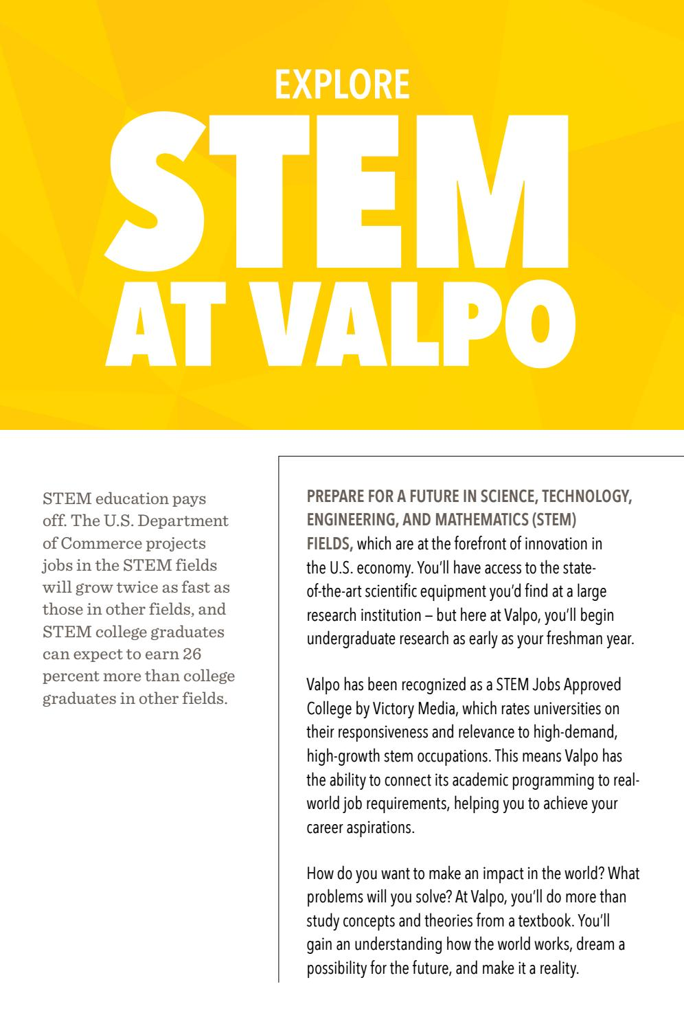 STEM at Valpo by Valparaiso University - issuu