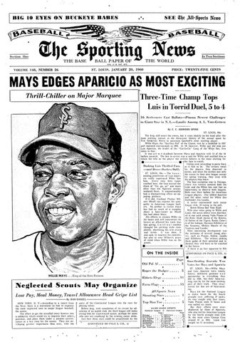 90e745c2 The sporting news 01 20 1960 by Mexico Sports Collectibles - issuu