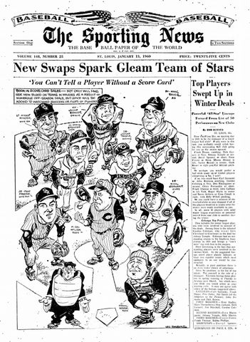 The Sporting News 01 13 1960 By Mexico Sports Collectibles