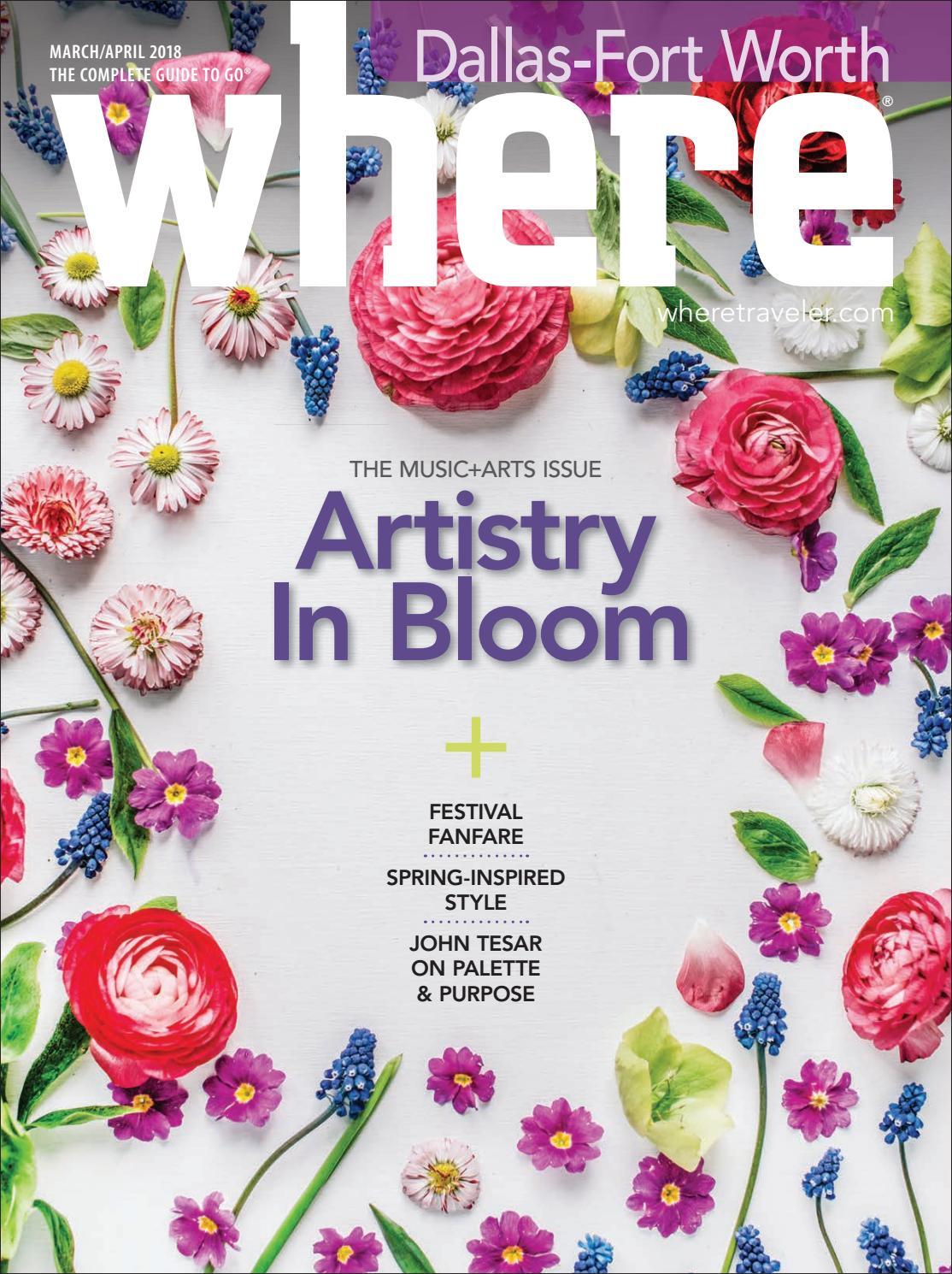 Where Magazine Dallas Mar 2018 by Morris Media Network - issuu