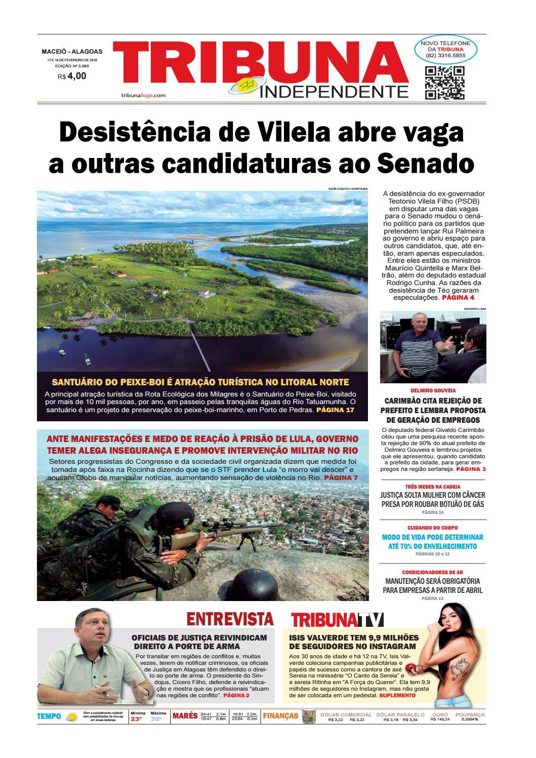 6c4c23dc54 Edição número 3085 - 17 e 18 de fevereiro de 2018 by Tribuna Hoje - issuu