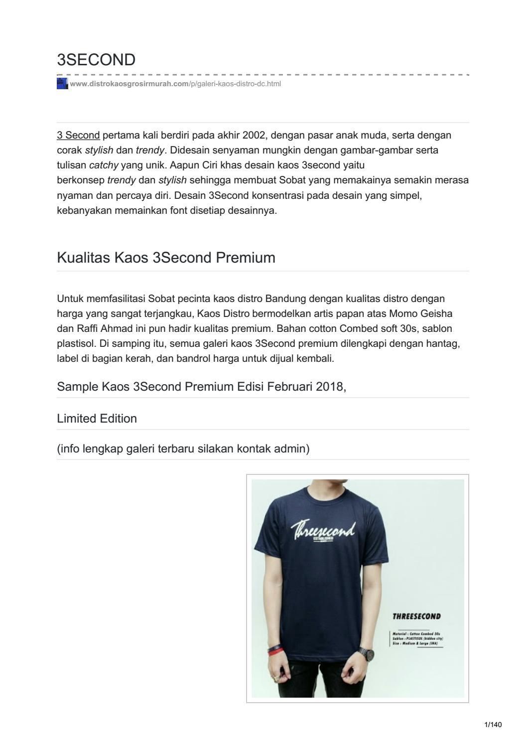 Daftar Harga Jaket 3second Premium Termurah 2018 Tshirt 166031812kn Kuning Xl Distrokaosgrosirmurah Com By Iji90 Issuu