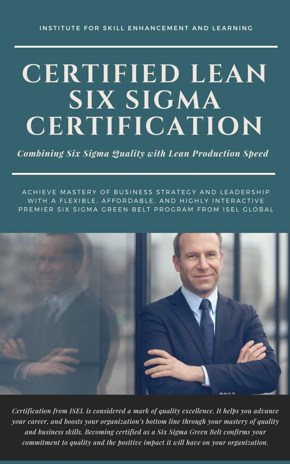 Lean Six Sigma For Managers By Iselglobal1 Issuu