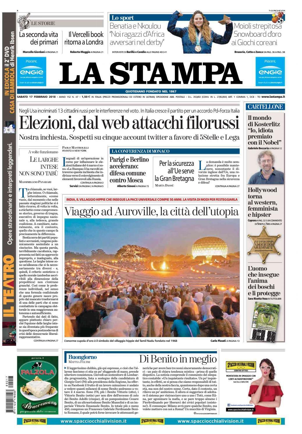 71a074d7e08d La stampa 17 febbraio 2018 by laredazione - issuu