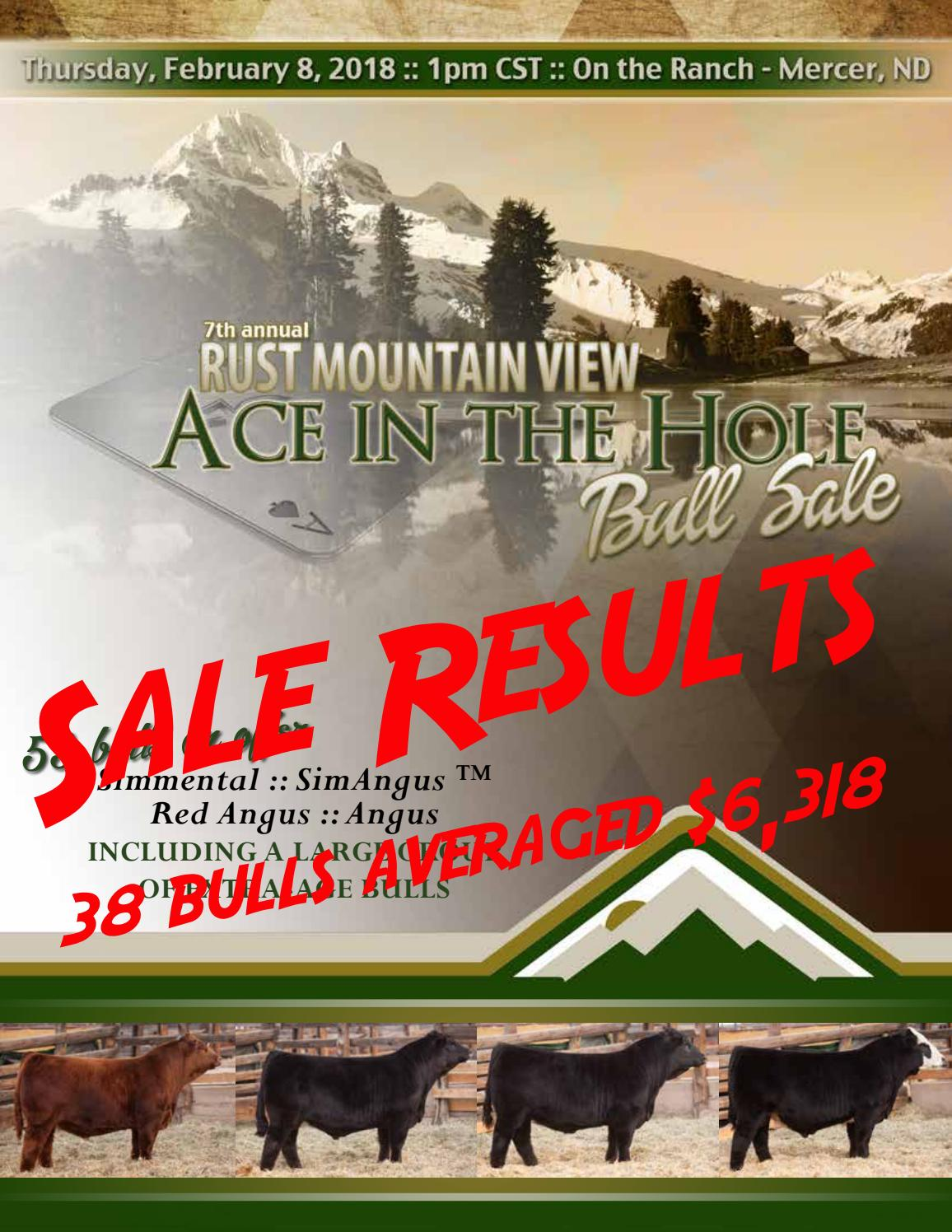 2018 Rust Mountain View Ranch Bull Sale Results by Bohrson Marketing ...