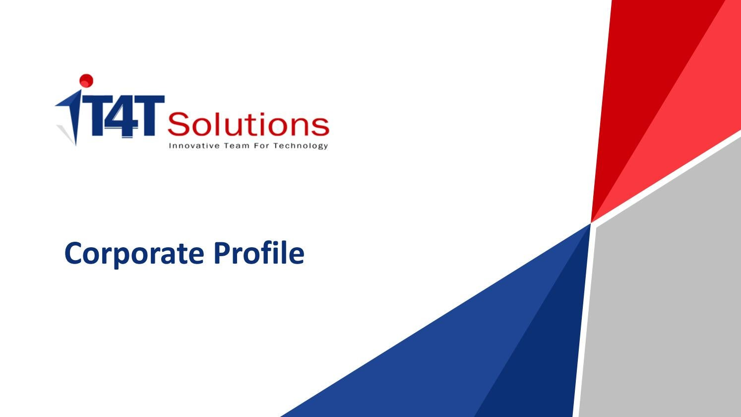 It4t solutions corporate profile pdf by seo it4tsolutions