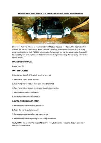 Partsavatar, Canada - Repairing a fuel pump driver of a car