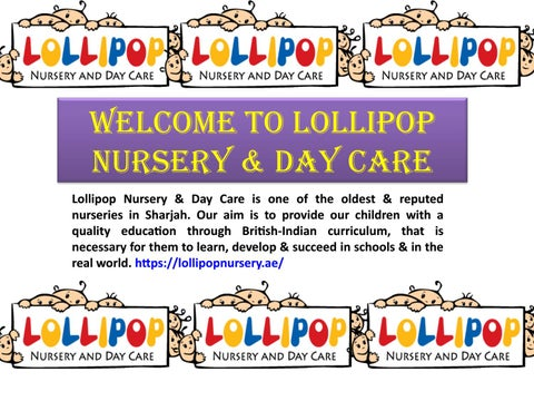Nursery Schools In Sharjah By Lollipop