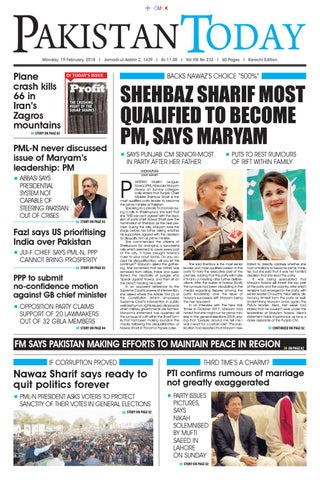 E paper pdf 19th february (khi) by Pakistan Today - issuu