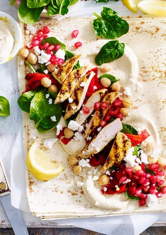 Page 30 of Chia Wraps with Pomegranate and Moroccan Chicken