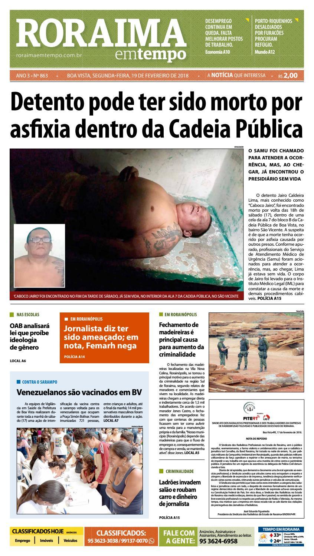 Jornal roraima em tempo – edição 863 by RoraimaEmTempo - issuu 6fe4fe793d929