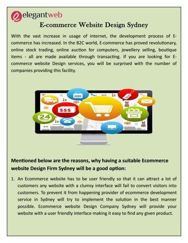 E commerce website design sydney by Elegant Web Services - issuu